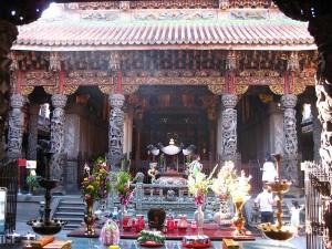 Fotorechte von Benjiho - daoistischer Zushih Temple- Sansia- Taiwan