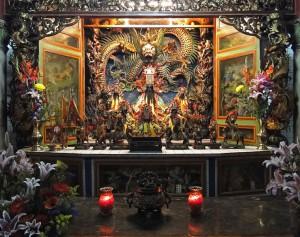 Fotorechte von Bernard Gagnon - daoistischer Tempel Taiwan innen